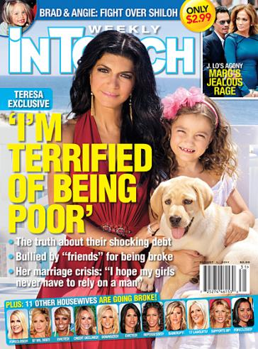 Teresa Giudice On Cover Of In Touch Weekly, Fears Poverty