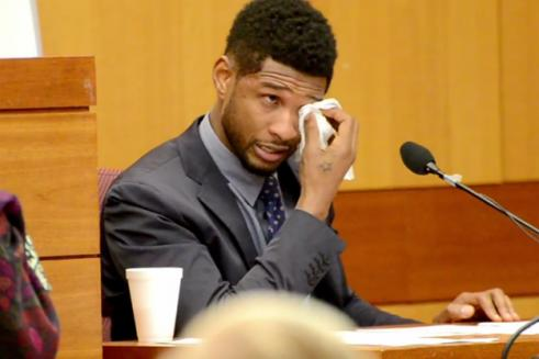 usher in court 491x327 Usher Slams Tameka Foster in Court, Sheds Tears