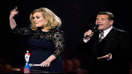 Adele Flips Off the Brit Awards