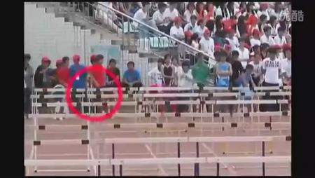 Chinese Hurdler Crashes Through EVERYTHING