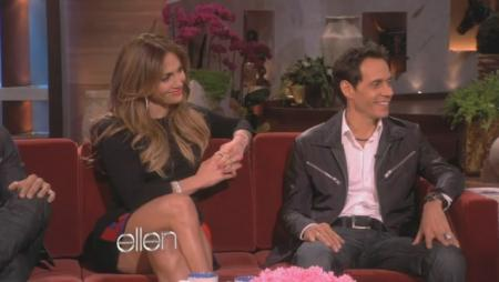 Jennifer Lopez Ellen on Jennifer Lopez And Marc Anthony On Ellen  Totes Friends