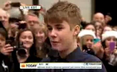 Justin Bieber Today Show Interview