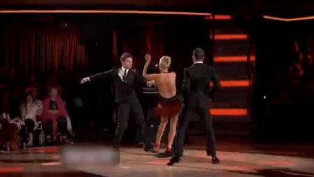 Katherine Jenkins, Mark Ballas and Tristan MacManus on Dancing With the Stars