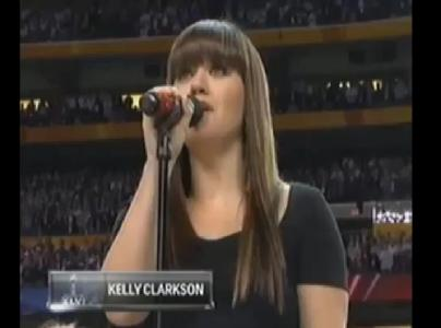 Kelly Clarkson National Anthem (Super Bowl)