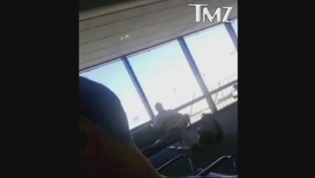 Kim Richards at the Airport