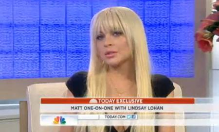 Lindsay Lohan Today Show Interview, Part I