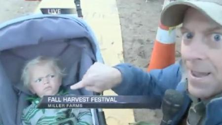 Reporter Scares Baby