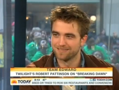 Robert Pattinson Birthdate on Robert Pattinson Today Show Interview