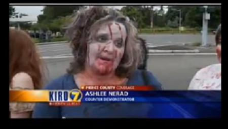 Zombies at Westboro Baptist Church Protest